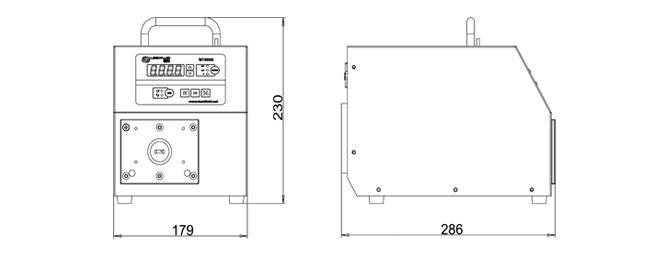 WT300S大扭矩调速型蠕动泵尺寸