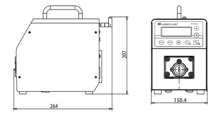 BT100S调速型智能蠕动泵尺寸图