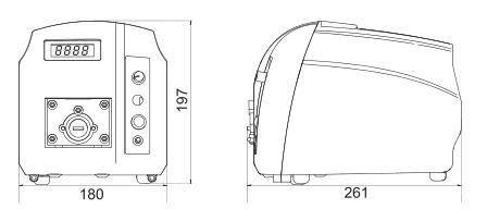 BT101S调速型蠕动泵尺寸图