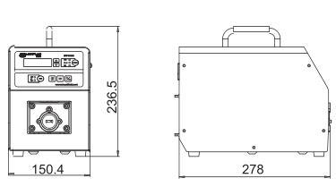 BT100S-1大扭矩调速型蠕动泵尺寸图