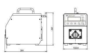BT300S调速型智能蠕动泵尺寸图