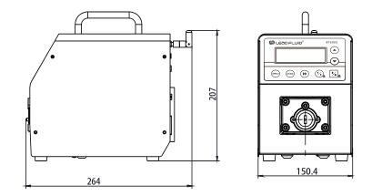 BT600S调速型智能蠕动泵尺寸图