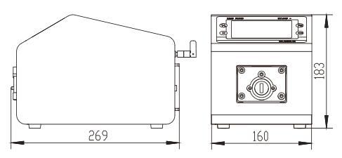 BT100L流量型智能蠕動泵尺寸圖