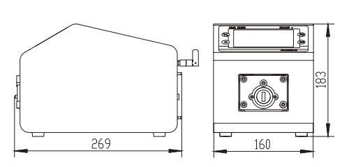BT300L流量型智能蠕动泵尺寸图