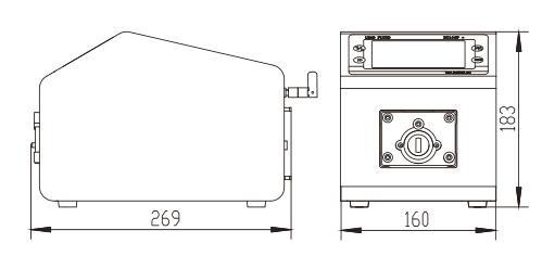 BT600L流量型智能蠕动泵尺寸图