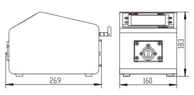 BT100F分配型智能蠕动泵尺寸图