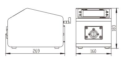 BT600F分配型智能蠕動泵尺寸圖